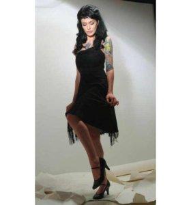 Чёрное винтажное платье