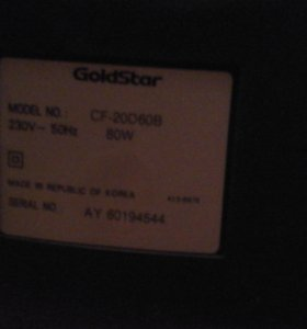 Телевизор goldstar cf-20d60b