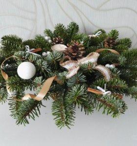 Рождественская композиция с елкой