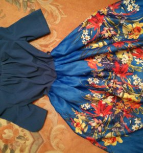 Синее платье 46-48