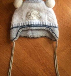 зимняя шапка на завязочках
