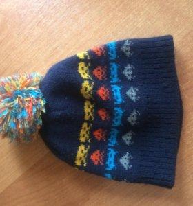 шапка осенне-весенняя для мальчика, красивая
