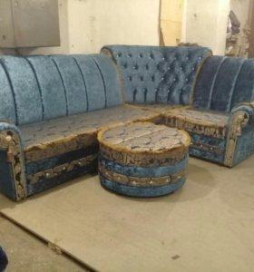 Угловой диван Марокко с креслом и с пуфиком!