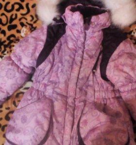 Детская куртка со штанами,зима