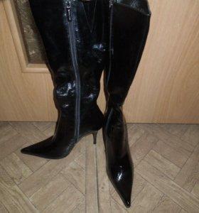 Новые лаковые сапоги 37р