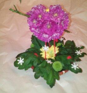 Поделки из цветов.