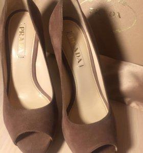 Туфли Prada(новые).замша.Италия