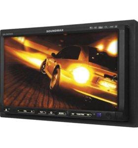 Автомобильная магнитола + монитор Soundmax CMD5003
