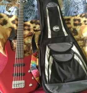Бас гитара Clevan+чехол