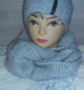 Комплект шарф-снуд и шапка
