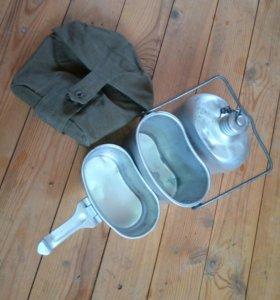 Армейский набор. Фляжка+котелок+черпак.