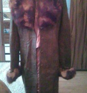 Зимняя,осеняя куртка чистая кожа.