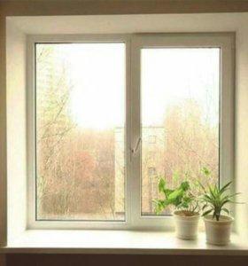 Окно с откосами.