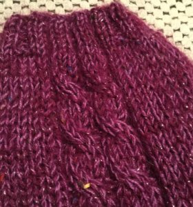 Теплый, красивый вязаный свитер для собачки
