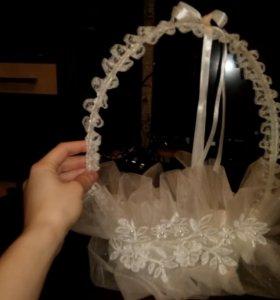 Свадебная подвязка на бутылки
