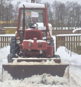 Чистка снега п. Дорохово и близлежащих территорий.