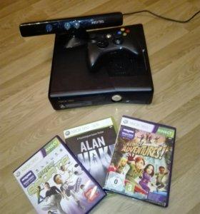 Xbox 360+Kinect+3 игры.