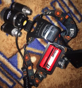Налобный фонарик Boruit rj3000
