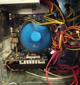 Игровой компьютер (i3/8gb/2gb/120gb ssd)+ монитор