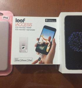 Айфон 6  , чехол оригинал, и микро карта памяти