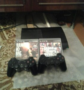 PS 3 ,2 джостика ,ГТА 5,The Last Of Us+подарок