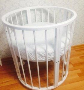 Кроватка круглая детская 7в1