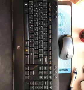Клавиатура и мышка Logitech Wireless Combo MK520