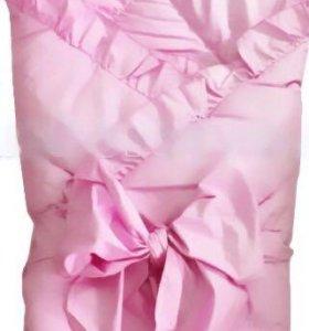 Конверт- одеяло на выписку с завязкой