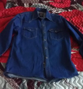 Джинцовая рубашка
