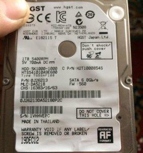 Жесткий диск для ноутбука 1 TB