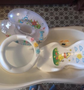 Ванночка,круг,стульчик для сидения в ванной,горка.