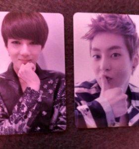 Карточки из альбомов EXO