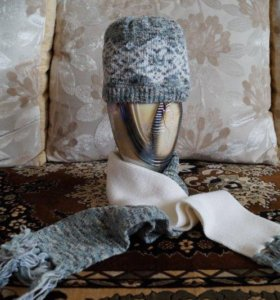 Комплект:шапка и шарф
