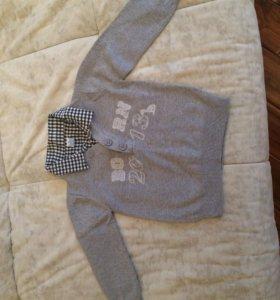 Свитер новый  (рубашка обманка)