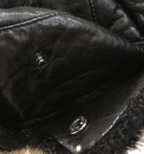 Шапка брендовая с мехом котика Shearling