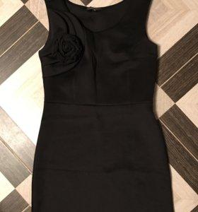 Новое чёрное платье с розой (46)