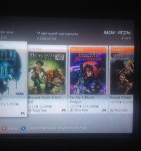 Официально купленные игры с Xbox Live
