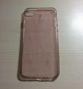 Силиконовый розово-прозрачный чехол на  iPhone 6/6