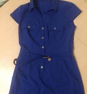 Синее новое платье