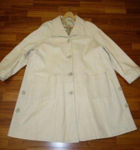 Кожаное пальто р.58