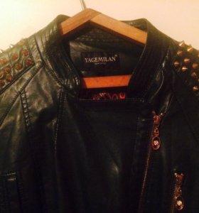 Куртка(кожаная)  размер 48