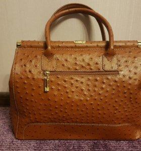 Новая итальянская сумка из натуральной кожи