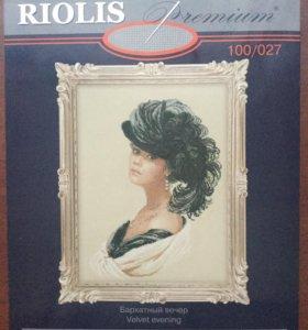 Набор для вышивания Риолис премиум бархатный вечер