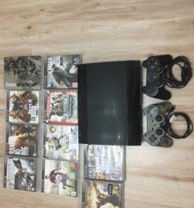 PlayStation 3, дополнительный Dualshock 3 и 10 игр