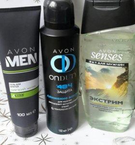Набор: дезодорант,гель для душа и гель для бритья