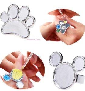 Маникюрное кольцо для дизайна красок ногтей