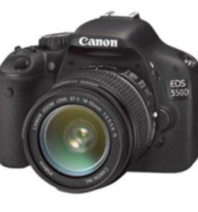 Зеркальная камера Canon 550d kit (18-55)