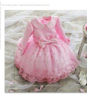 Платье для девочки рост 140 .
