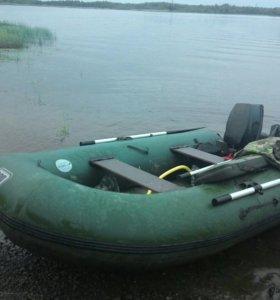 ПВХ лодка +Эхолот Гармин