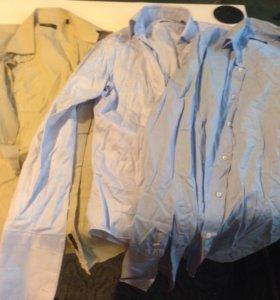 Три мужских рубашки Boss и Corneliani